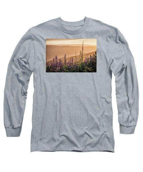 Sunset Among The Lupine Long Sleeve T-Shirt