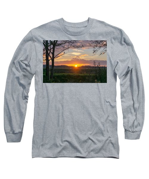 Long Sleeve T-Shirt featuring the photograph Sunset by Anjo Ten Kate