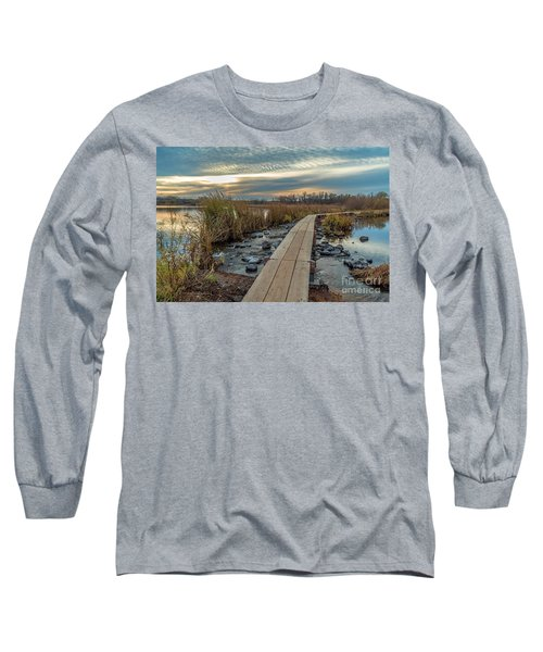 Sunset At Purgatory Creek Long Sleeve T-Shirt