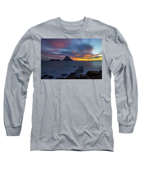 Sunset In The Mediterranean Sea With The Island Of Es Vedra Long Sleeve T-Shirt
