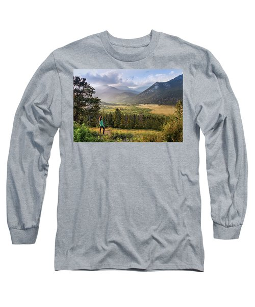 Sunset In The Rockies Long Sleeve T-Shirt