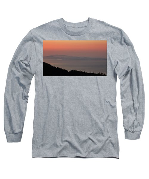 Sunset Of The Olympic Mountains Long Sleeve T-Shirt