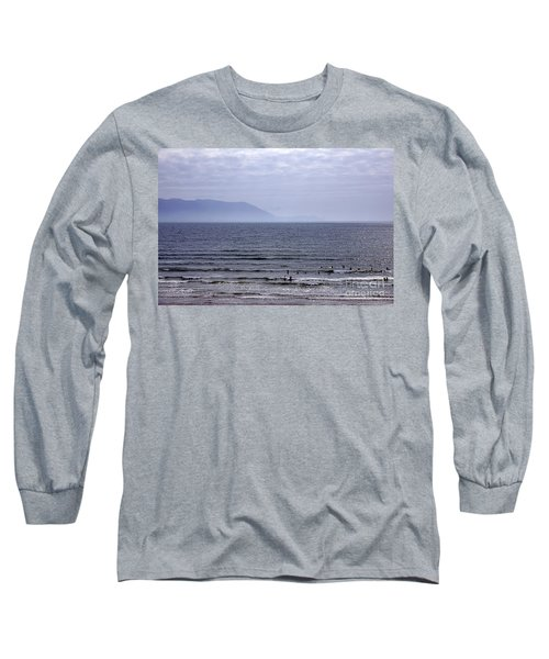 Surfers At Inch Beach Long Sleeve T-Shirt