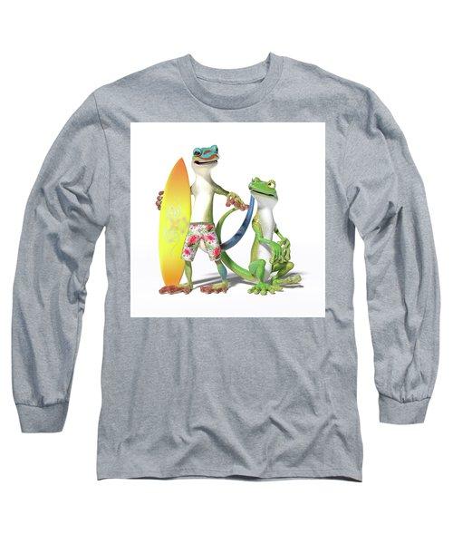 Surf's Up Geckos Long Sleeve T-Shirt