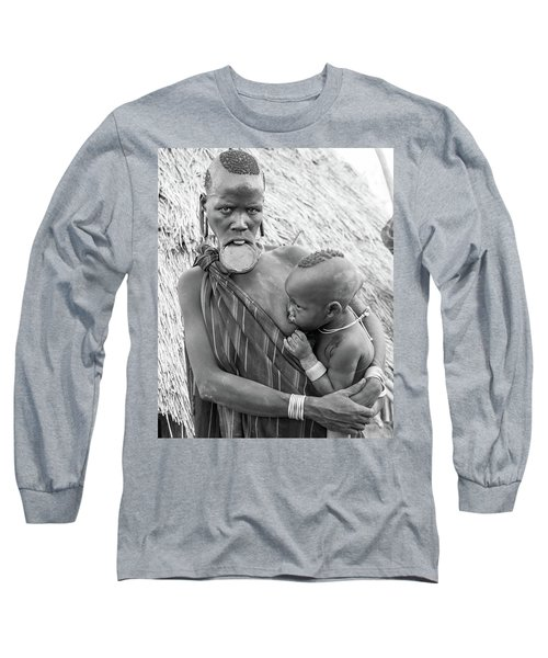 Mursi Mother And Child Long Sleeve T-Shirt