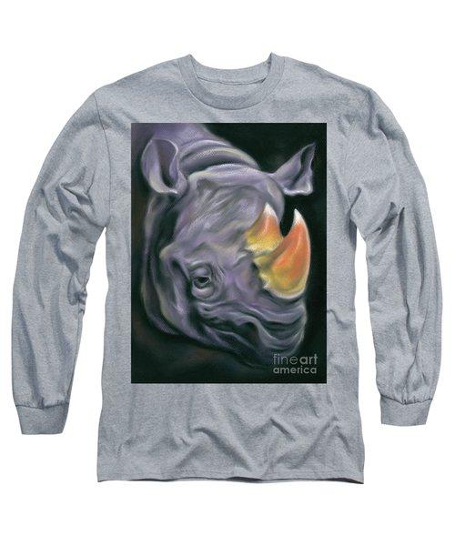 Surreal Candy Corn Rhinoceros Long Sleeve T-Shirt
