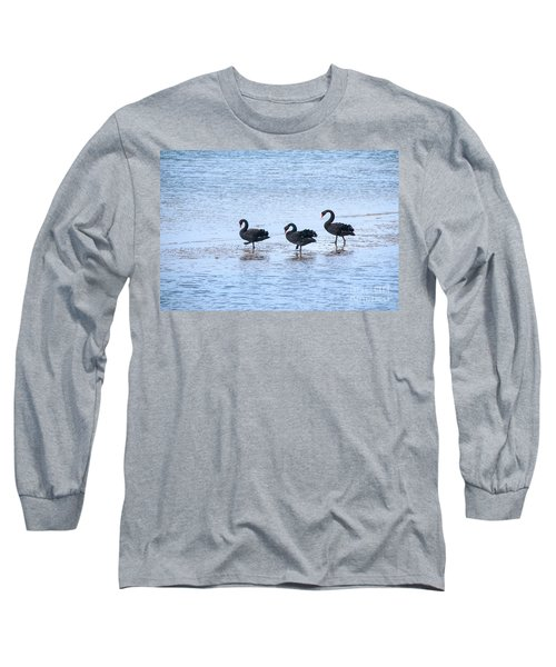 Swans On Parade Long Sleeve T-Shirt