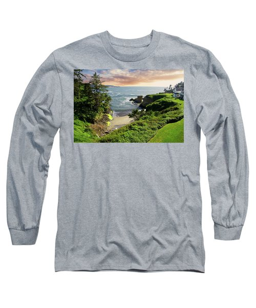 Tall Conifer Above Protected Small Cov Long Sleeve T-Shirt