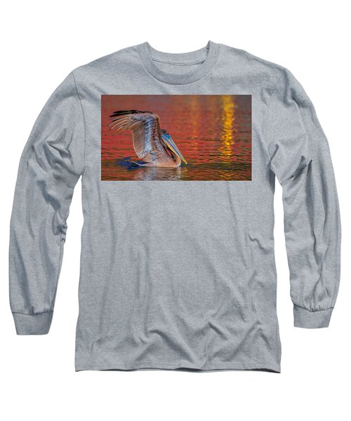 Tchefuncte Pelican Long Sleeve T-Shirt
