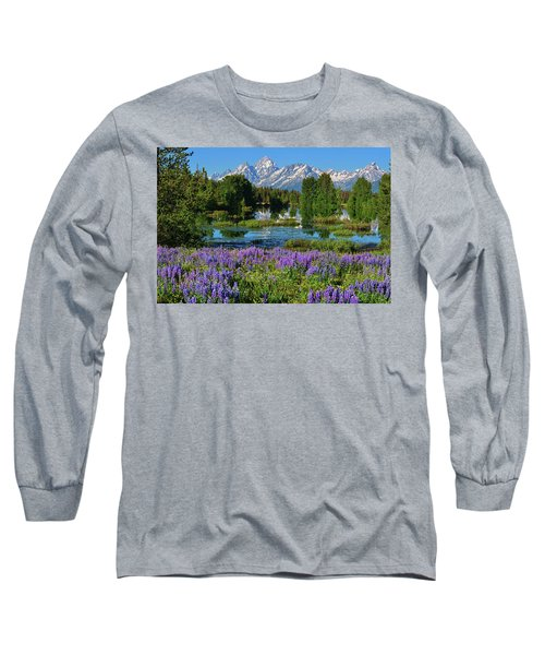 Tetons And Lupines Long Sleeve T-Shirt