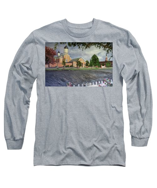 Thank Thee For The Church And The Temple  Vernal Utah Temple Long Sleeve T-Shirt
