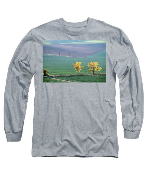 Long Sleeve T-Shirt featuring the photograph The Chestnuts Way, Moravia 15 by Dubi Roman