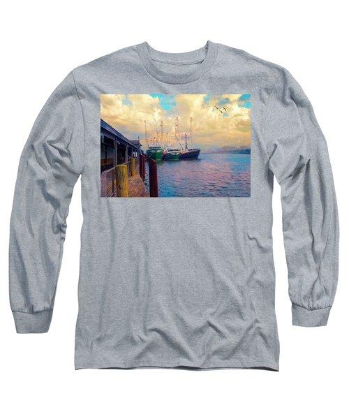 The Docks At Cape May Long Sleeve T-Shirt