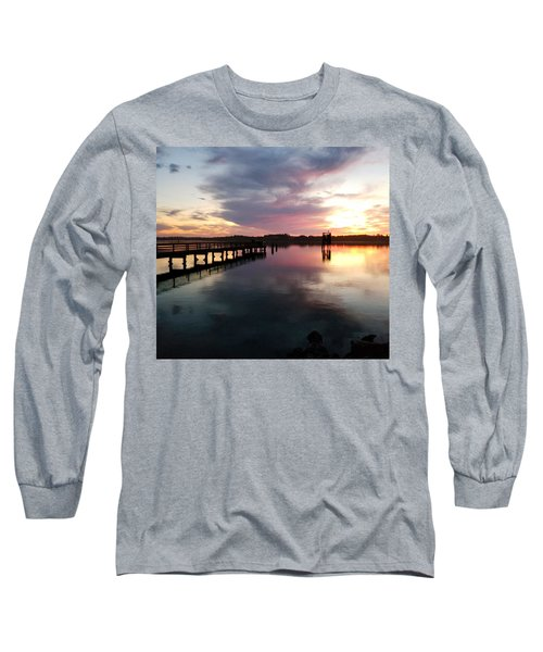The Hollering Place Pier At Sunset Long Sleeve T-Shirt