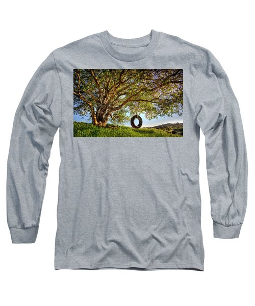 The Old Tire Swing Long Sleeve T-Shirt