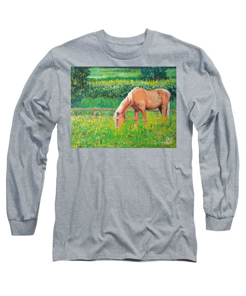 The Palomino And Buttercup Meadow Long Sleeve T-Shirt