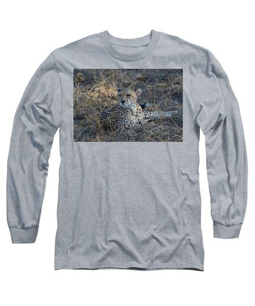 Cheetah In Repose Long Sleeve T-Shirt