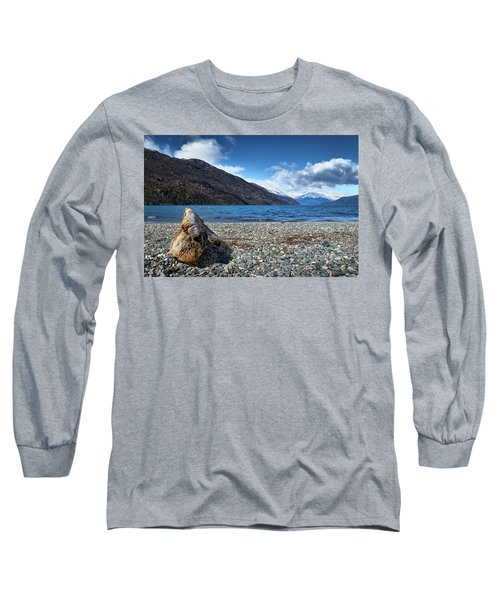 The Puelo Lake In The Argentine Patagonia Long Sleeve T-Shirt