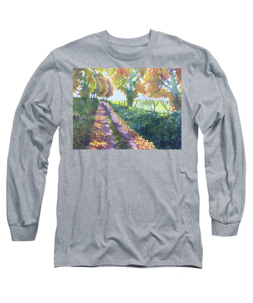 The Tunnel In Autumn Long Sleeve T-Shirt