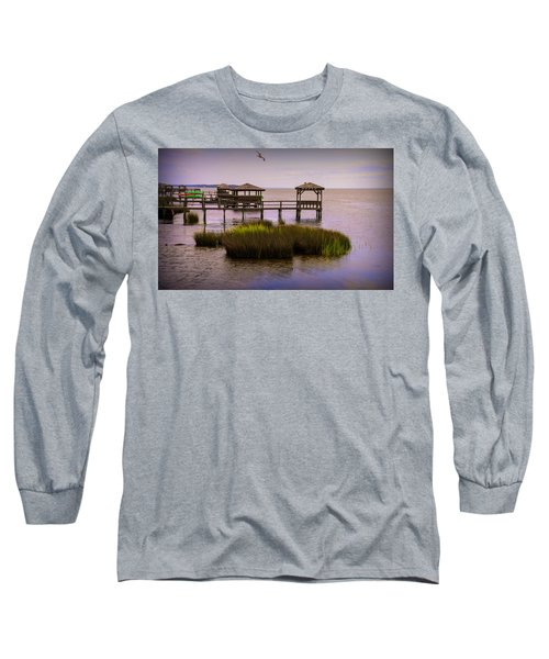 The Waterfront At Duck  Long Sleeve T-Shirt