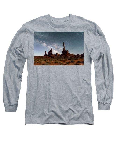 Totem Pole, Yei Bi Che And Milky Way Long Sleeve T-Shirt