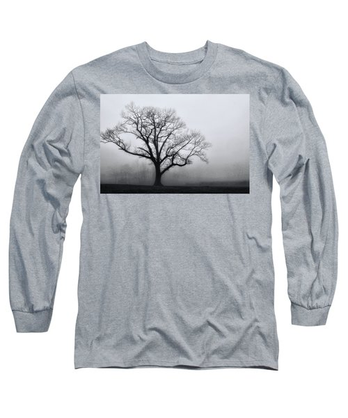 Trees In Fog # 2 Long Sleeve T-Shirt