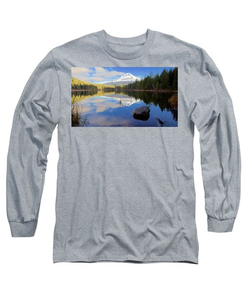 Trillium Lake November Morning Long Sleeve T-Shirt