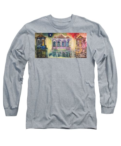 Tryptic On The Bayou New Orleans Long Sleeve T-Shirt