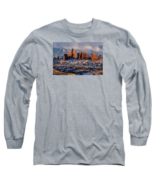 Turret Arch Winter Sunset Long Sleeve T-Shirt