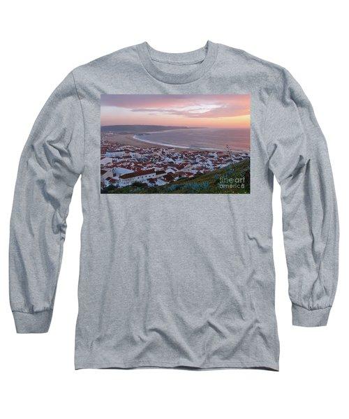 Twilight At Nazare Village Long Sleeve T-Shirt