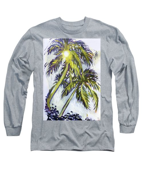 Two Palm Sketch Long Sleeve T-Shirt