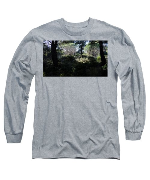 Long Sleeve T-Shirt featuring the photograph Two Umbrella Trees by August Timmermans