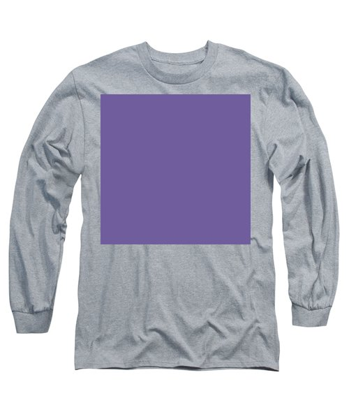 Long Sleeve T-Shirt featuring the mixed media Ultra  Violet - Pantone Color Of The Year 2018 by Carol Cavalaris