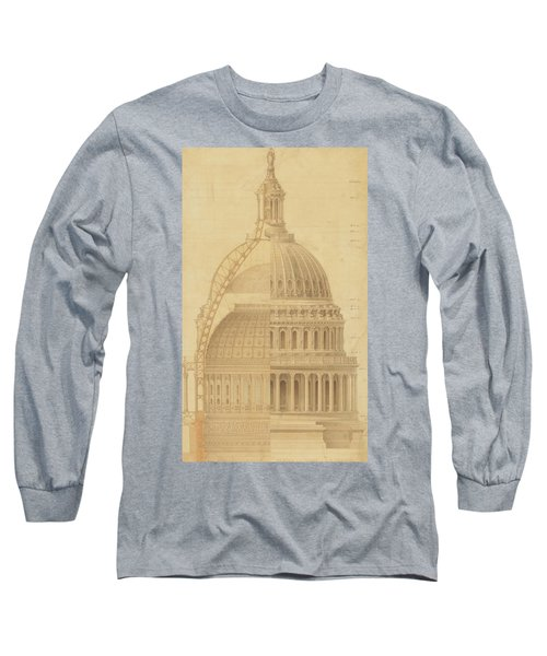 United States Capitol, Section Of Dome, 1855 Long Sleeve T-Shirt