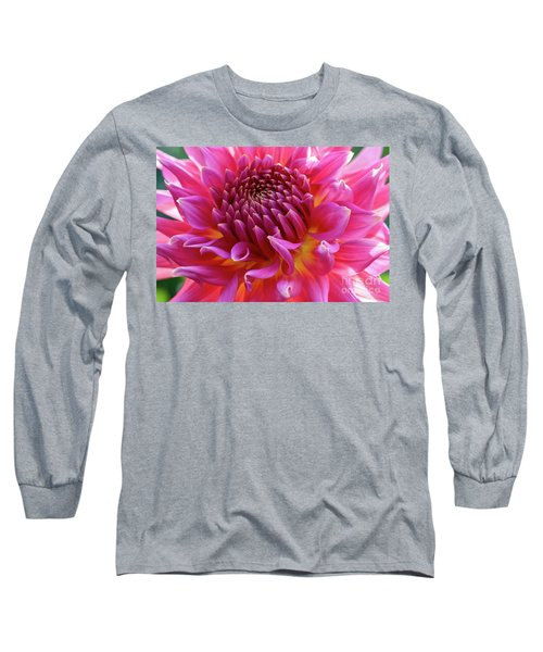 Vibrant Dahlia Long Sleeve T-Shirt