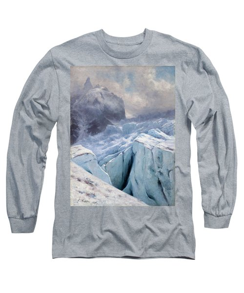 View Of Mont Blanc,1896 Long Sleeve T-Shirt
