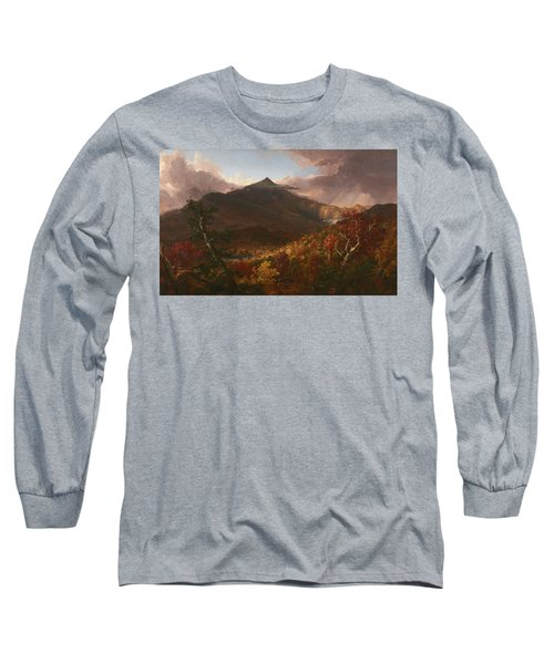 View Of Schroon Mountain, Essex County, New York, After A Storm, 1838 Long Sleeve T-Shirt