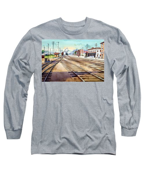 Vintage Color Columbia Rail Yards Long Sleeve T-Shirt