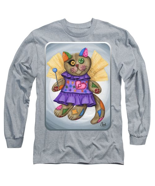 Voodoo Empress Fairy Cat Doll - Patchwork Cat Long Sleeve T-Shirt