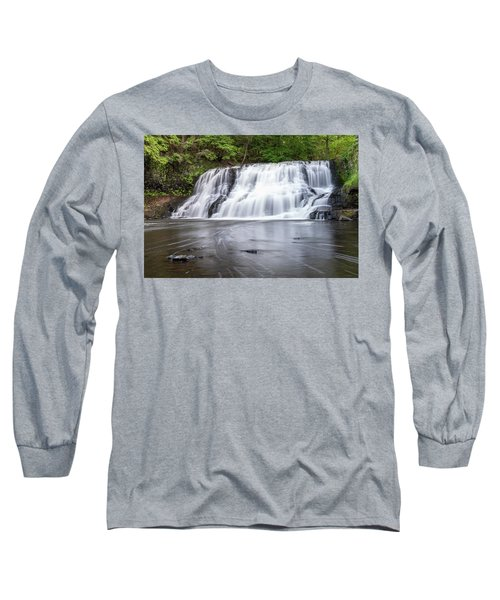 Wadsworth Falls In Middletown, Connecticut U.s.a.  Long Sleeve T-Shirt