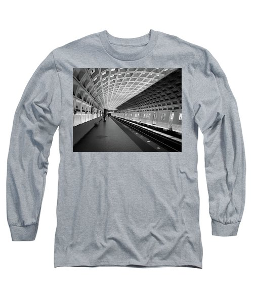 Waiting At Pentagon City Station Long Sleeve T-Shirt