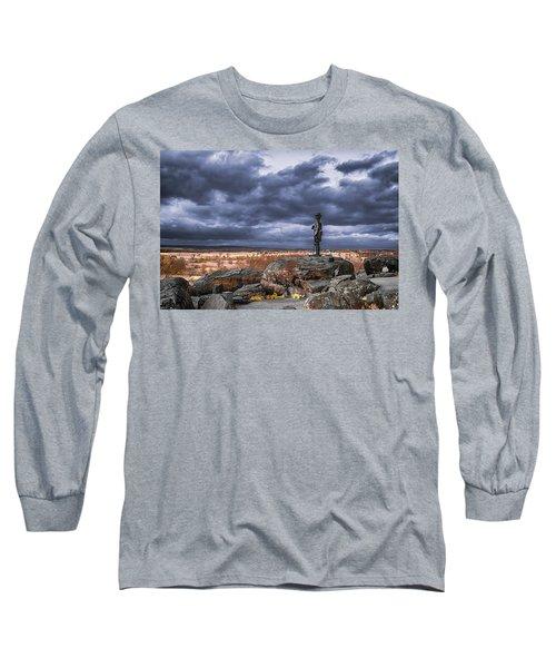 Warren In Infrared Long Sleeve T-Shirt