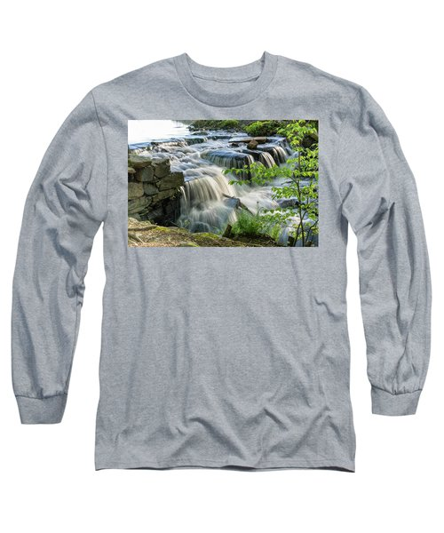 Waterfall At The Old Mill  Long Sleeve T-Shirt