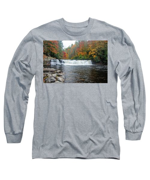 Waterfall In Autumn Long Sleeve T-Shirt