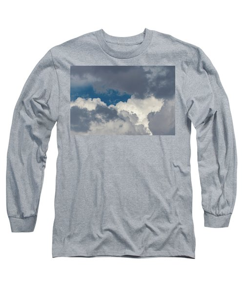 White And Gray Clouds Long Sleeve T-Shirt