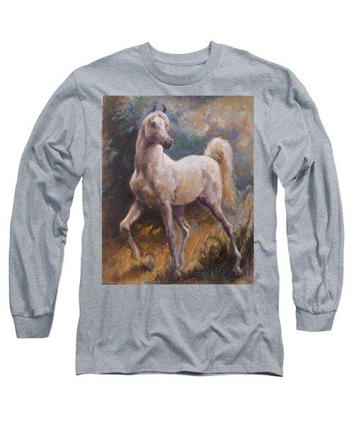 White Arabian Long Sleeve T-Shirt