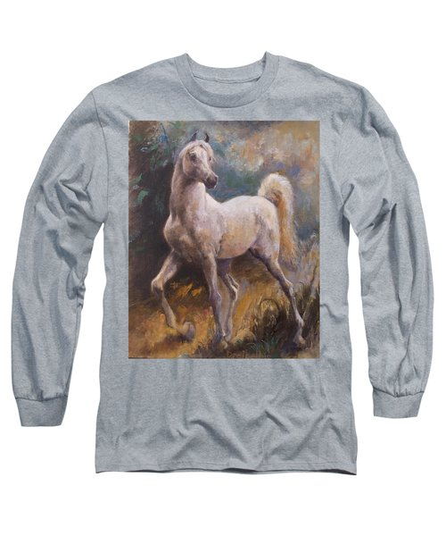 White Arabian Long Sleeve T-Shirt