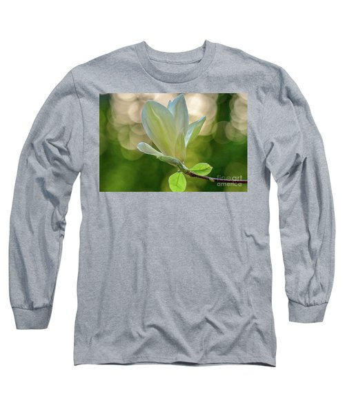 White Magnolia Long Sleeve T-Shirt