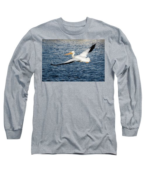 White Pelican Wingspan Long Sleeve T-Shirt