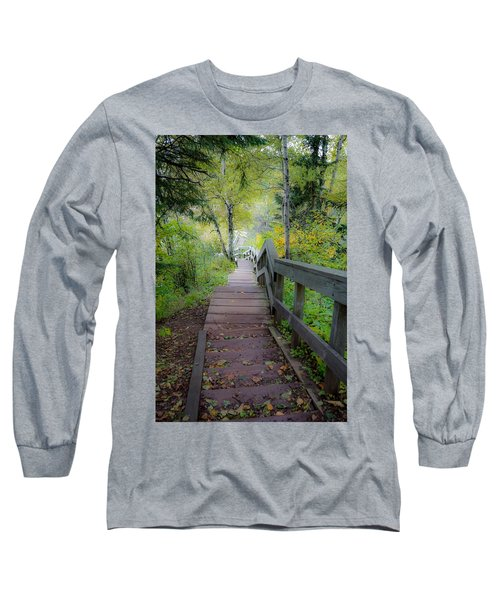 Winding Stairs In Autumn Long Sleeve T-Shirt